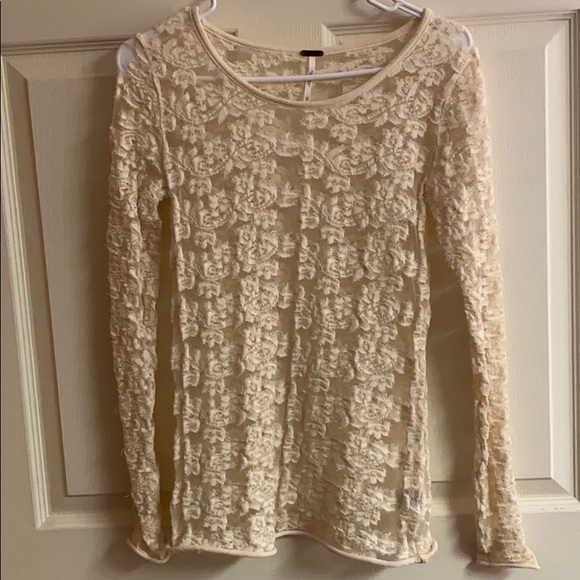 Free People Tops - Free People Lace Shirt